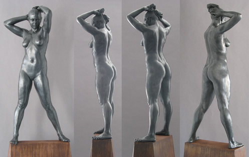 Sculpture: Nataly as Venus, 2005, four views