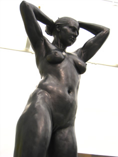 Sculpture: Nataly as Venus, 2005, torso closeup